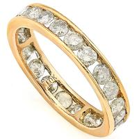 MAGNIFICENT ! 1.66 CARAT (24 PCS) DIAMOND 10KT SOLID GOLD ETERNITY RING