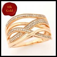1/2 CT DIAMOND 10KT SOLID GOLD RING