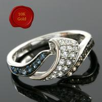 IDEAL !  2/5 CARAT (30 PCS) DIAMOND 10KT SOLID GOLD WEDDING RING