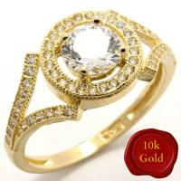 1.25 CT FLAWLESS CREATED DIAMOND SOLITAIRE 10KT SOLID GOLD ENGAGEMENT RING