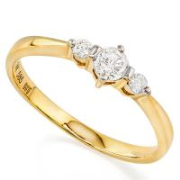 BRILLIANT ! 1/4 CARAT DIAMOND (VS-SI) 14KT SOLID GOLD ENGAGEMENT RING