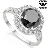 IMMACULATE ! 2.32 CARAT (17 PCS) DIAMOND SOLITAIRE 10KT SOLID GOLD ENGAGEMENT RING