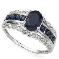1.33 CT SAPPHIRE & 1/5 CT DIAMOND 10KT SOLID GOLD RING