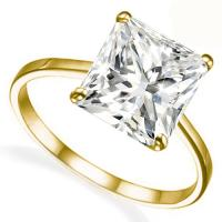 1.00 CT PRINCESS DIAMOND SOLITAIRE 14KT SOLID GOLD ENGAGEMENT RING