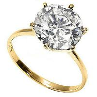 PRETTY ! 1 1/5 CARAT DIAMOND SOLITAIRE 14KT SOLID GOLD ENGAGEMENT RING (STOCK IMAGE, SEE DESCRIPTION)