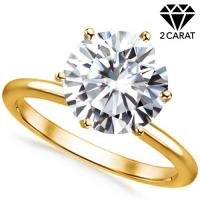 1.70 CT DIAMOND MOISSANITE (VS CLARITY) SOLITAIRE 14KT SOLID GOLD ENGAGEMENT RING