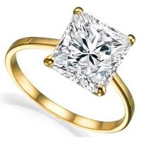 MESMERIZING ! 1.84 CARAT FLAWLESS CREATED DIAMOND SOLITAIRE 14KT SOLID GOLD ENGAGEMENT RING