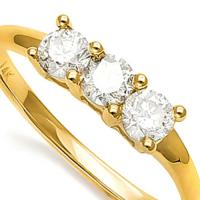 1/3 CT DIAMOND 14KT SOLID GOLD ENGAGEMENT RING