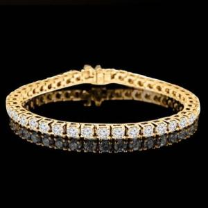 37.52 CT LAB CREATED DIAMOND (VVS) 10KT SOLID GOLD TENNIS BRACELET