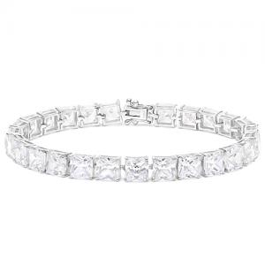 47.70 CT FLAWLESS CREATED DIAMOND 10KT SOLID GOLD TENNIS BRACELET