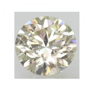NATURAL DIAMOND! 1/2 CARAT, BRILLIANT CUT, L COLOR, I3 CLARITY