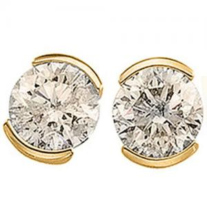 14KT SOLID GOLD 2/5 CT DIAMOND EARRINGS STUD