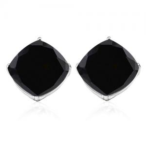 2.20 CT GENUINE BLACK SAPPHIRE 10KT SOLID GOLD EARRINGS STUD