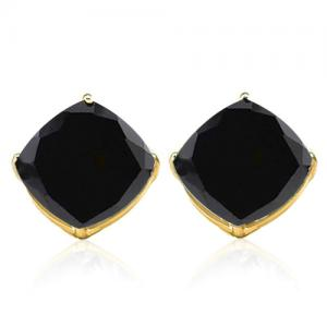 1.73 CT GENUINE BLACK SAPPHIRE 10KT SOLID GOLD EARRINGS STUD