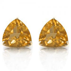 1/2 CT CITRINE 10KT SOLID GOLD EARRINGS STUD