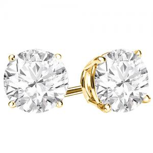 1/4 CT DIAMOND 14KT SOLID GOLD EARRINGS STUD