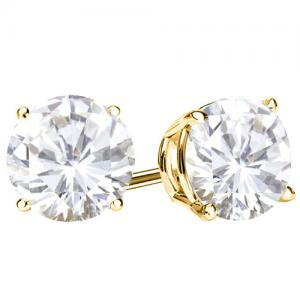 2/5 CT DIAMOND 14KT SOLID GOLD EARRINGS STUD