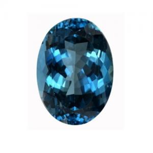 PREMIUM GEM! 12.11 CT LONDON BLUE TOPAZ LOOSE GEMSTONE STRIKING BLUE