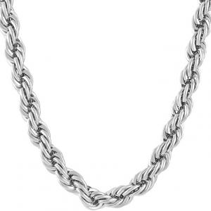 24 INCHES 1.5MM STERLING SILVER ITALIAN ROPE CHAIN 925 STERLING SILVER NECKLACE