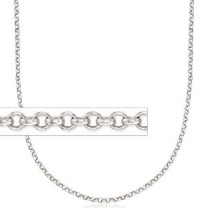 20 INCHES 2MM STERLING SILVER ITALIAN ROLO CHAIN 925 STERLING SILVER NECKLACE