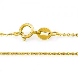 18 INCHES 1MM 10KT SOLID GOLD CABLE NECKLACE