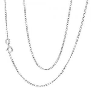 18 INCHES 0.5MM 10KT SOLID GOLD CURB NECKLACE