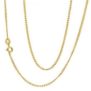 18 INCHES 0.5MM 14KT SOLID GOLD CURB CHAIN