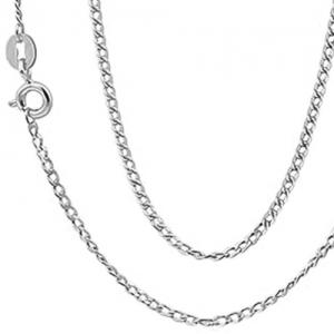 22 INCHES 0.5MM 10KT SOLID GOLD CURB NECKLACE