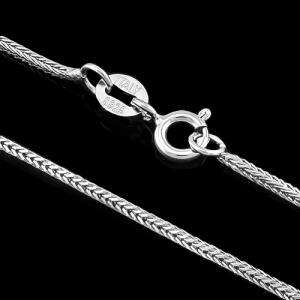 20 INCHES 1MM PURE 925 ITALY STERLING SILVER ROUND SNAKE NECKLACE