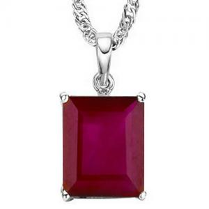 4/5 CT RUSSIAN RUBY 10KT SOLID GOLD PENDANT