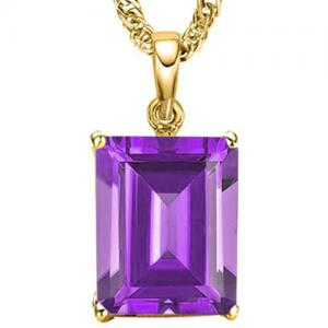 1 1/3 CT AMETHYST 10KT SOLID GOLD PENDANT