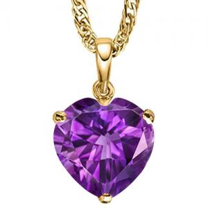 3/4 CT AMETHYST 10KT SOLID GOLD PENDANT