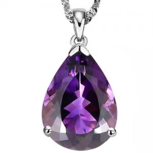 4.74 CT AMETHYST 10KT SOLID GOLD PENDANT