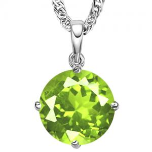 3/5 CT PERIDOT 10KT SOLID GOLD PENDANT