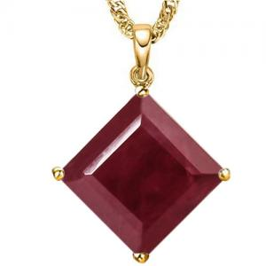 4.47 CT RUBY 10KT SOLID GOLD PENDANT