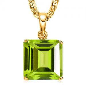 1.07 CT PERIDOT 10KT SOLID GOLD PENDANT