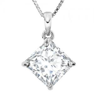 1.85 CT LAB CREATED DIAMOND (VS) 14K SOLID GOLD PENDANT