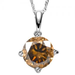 1/4 CT CHOCOLATE DIAMOND 14KT SOLID GOLD PENDANT