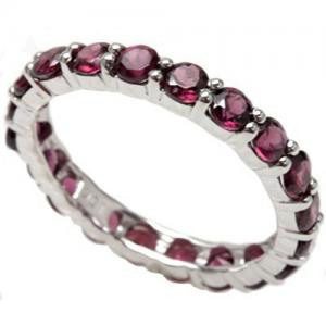 3.28 CT GARNET 10KT SOLID GOLD ETERNITY RING