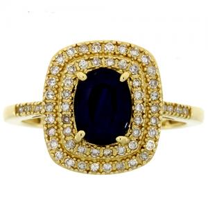 (CLOSEOUT #1011) FINE JEWELRY (I1) DIAMOND 14KT SOLID GOLD RING (SIZE 7)