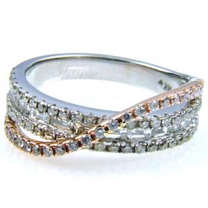 (CLOSEOUT #392) FINE JEWELRY (VS2-SSI2) DIAMOND 14KT SOLID GOLD RING (SIZE 6)