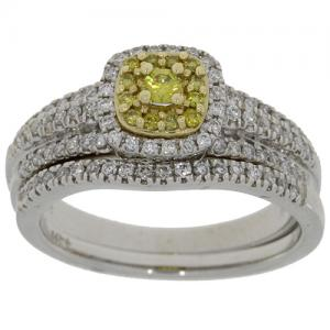 (CLOSEOUT #615) FINE JEWELRY (SI-I1) DIAMOND 14KT SOLID GOLD RING (SIZE 6.5)
