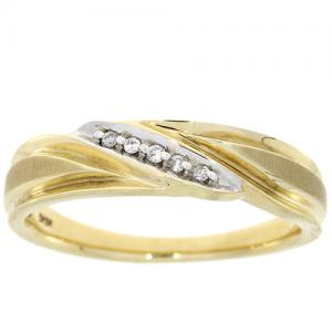 (CLOSEOUT #904) FINE JEWELRY (SI-I1) DIAMOND 10KT SOLID GOLD RING (SIZE 10)