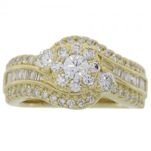 (CLOSEOUT #996) FINE JEWELRY (SI-I1) DIAMOND 14KT SOLID GOLD RING (SIZE 7)