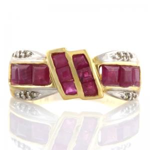 1.63 CT RUBY & DIAMOND 10KT SOLID GOLD RING