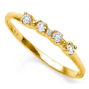 DIAMOND 10KT SOLID GOLD ENGAGEMENT RING