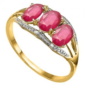 2.00 CT AFRICAN RUBY & DIAMOND 10KT SOLID GOLD RING