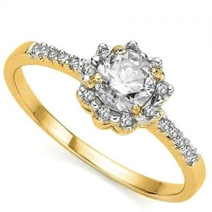 1/3 CT DIAMOND SOLITAIRE 14KT SOLID GOLD ENGAGEMENT RING