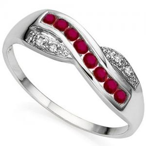 1/3 CT RUBY & DIAMOND 10KT SOLID GOLD RING