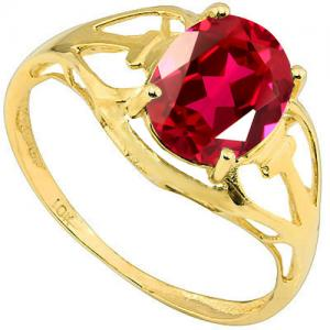 2.27 CT RUSSIAN RUBY 10KT SOLID GOLD RING